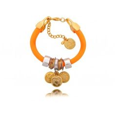 bransoletka, pomarańczowa, uśmiech, smile