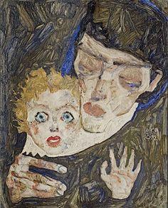 "Egon Schiele""Mother and Child (II),"" 1912[content:shareblock]Courtesy Leopold Museum[content:advertisement-center]"