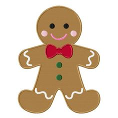 Christmas Gingerbread Man Applique Machine by LittleStitchesStudio Christmas Applique, Christmas Clipart, Christmas Art, Christmas Decorations, Christmas Ornaments, Etsy Christmas, Christmas Design, Christmas Stocking, Embroidery Designs Free Download