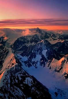 Everyone must take a trip to Alaska once in their lifetime! The Alaska Range Wyoming, Beautiful World, Beautiful Places, Beautiful Sunset, Places To Travel, Places To See, Stations De Ski, All Nature, Le Far West