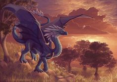 Dragons of the Wood Magical Creatures, Fantasy Creatures, Fantasy Dragon, Fantasy Art, Dragons, Dragon Artwork, Dragon Pictures, Illustration, Beautiful Fairies