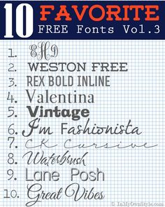10 Free Fonts to Download and Create With | In My Own Style