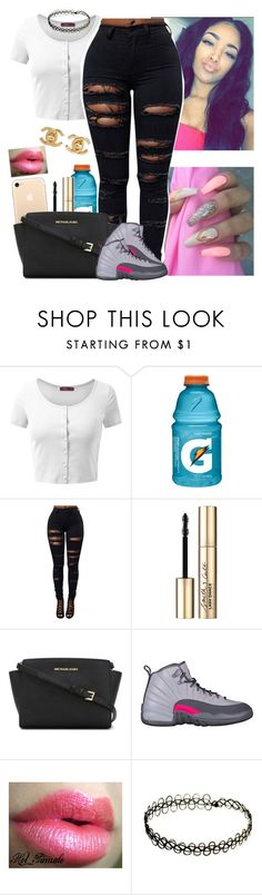 """😸😸😸"" by melaninmonroee ❤ liked on Polyvore featuring Doublju, Smith & Cult, MICHAEL Michael Kors and Chanel"