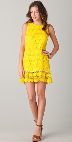 Juicy Couture Daisy Guipure Dress in Grapefruit $298.00