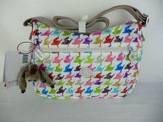 Kipling HB6570 Houndstooth Sarajane Syro Shoulder Cross body Travel Bag