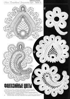 Irish crochet motifs                                                                                                                                                                                 Más                                                                                                                                                                                 Más