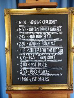 Love a bit of organistation Diy Wedding, Wedding Ceremony, Wedding Stuff, Wedding Dreams, Dream Wedding, Bbq Cake, Village Fete, Welcome Drink, Wedding Signage