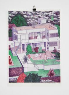 josephinritschel:  josephinritschel:  E.1027 Eileen Gray House with Le Corbusier. Get an A3 riso print of it in my shop: mevameva.de/shop   Just 12 €!!!!
