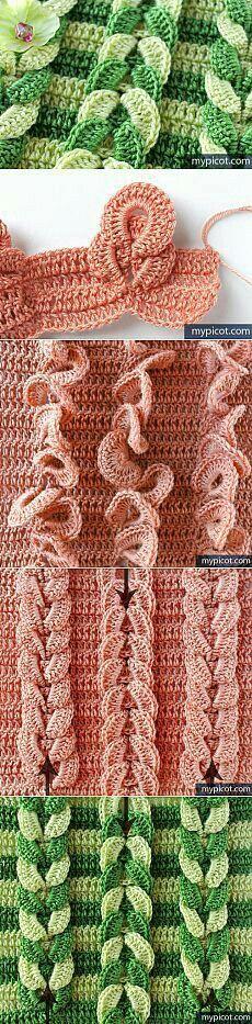 Crochet cables.