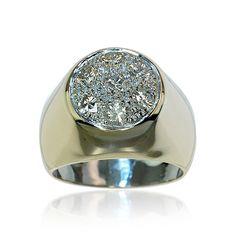 Diamond Ring Yellowgold Diamonds  Diamantring 0,785ct Diamanten in 585 Gelbgold