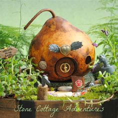 Stone Cottage Adventures: Dollar Store Craft Challenges of 2017 Dollar Store Crafts, Dollar Stores, My Fairy Garden, Fairy Gardens, Create A Fairy, Craft Projects, Craft Ideas, Home Crafts, Crafty