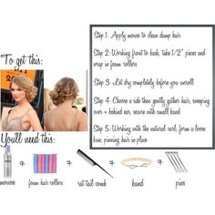 How-to get a curly side bun ala Taylor Swift!