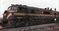 Pennsylvania Railroad Baldwin Centipede Diesel Locomotive.