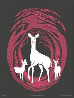 """""""Deer of Mirkwood"""" Art Prints by Familytree"""