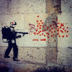 Street art in Lisbon: 40th anniversary of the Carnation Revolution (Portugal, April 25, 1974).