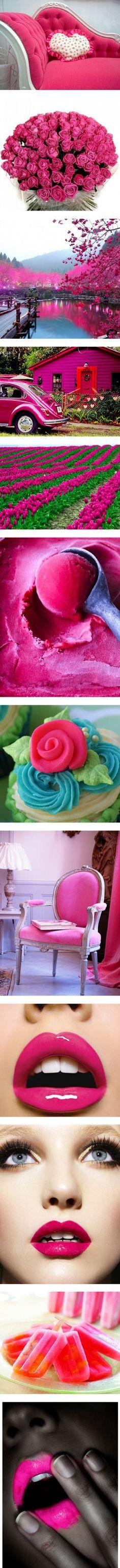 """image fushia /rose"" by jess-leonie ❤ liked on Polyvore"
