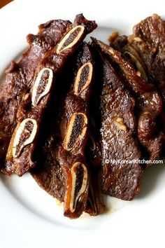 LA Galbi (Thinly Sliced Korean BBQ Short Ribs) My Grandfather's wife is Korean and taught the whole family how to make this! Just Melt in your mouth!