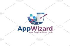 App Wizard | Logo Template by REDVY on @creativemarket