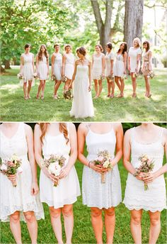 mismatched bridesmaid dresses photo by http://www.ryanbernalphotography.com/
