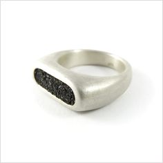 Ring from SAND collection. Inspiration to create beautiful thing may be found everywhere. It could be a huge form of small structure.
