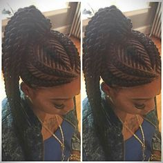 This is tooo beautiful!  I absolutely love this hairstyle!  #GhanaBraidUpdo. Kudos to whoever the hairstylist is!