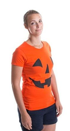 JACK O' LANTERN PUMPKIN Ladies' T-shirt / Easy Halloween Costume Fun Tee