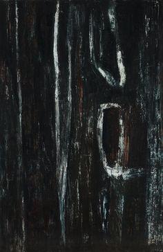 Marika Mäkelä: Sommitelma, 1985, sekatekniikka, 230x150 cm - Hagelstam K138