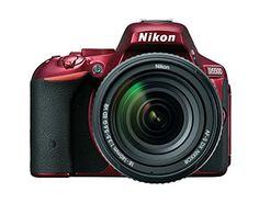 Nikon D5500 24.2 Megapixel Digital SLR Camera with Lens - 18 mm - 140 mm - Red 1552 31...