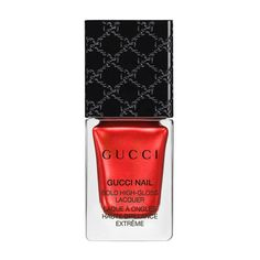 Gucci Antique Ruby, High-Gloss Lacquer ($29) ❤ liked on Polyvore featuring beauty products, nail care, nail polish, beauty, nails, esmalte, red, metallic, ruby and glossy nail polish
