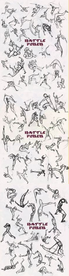 Battle poses this is awesome: