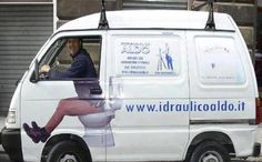I wonder how many people have taken pictures of this guy in his company van? Do people take and share pictures of your company van?