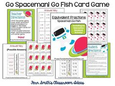 #FREE Go Spaceman Equivalent Fractions Go Fish Card Game #FreebieFriday #TPT