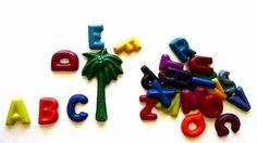 Alphabet Crayon Loot / Goodie bag Party Favors - chicka chicka boom boom party theme, coconut tree, palm tree, sugar free, nut free by CustomCrayonsbySara on Etsy https://www.etsy.com/listing/226237055/alphabet-crayon-loot-goodie-bag-party