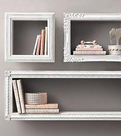 Bibliothèque en forme de cadre