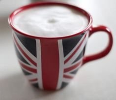 Union Jack mug for a large cuppa Coffee Tumbler, My Coffee, Coffee Shop, Coffee Cups, Coffee Time, Tea Time, Union Jack, Union Flags, British Things