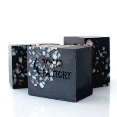 Japanese Black Kimono Soap with Organic Shea Butter in a box - Japanese Bamboo Charcoal Powder - Vegan Soap - Detox Soap - Soap Gift