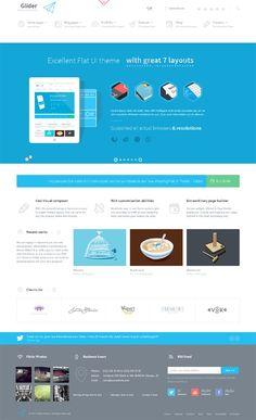 Glider, Premium WordPress Portfolio Business Theme