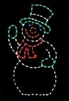 Snowman LED Light