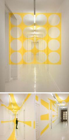 This Mural Changes Shape As You Walk Through It Pinterest