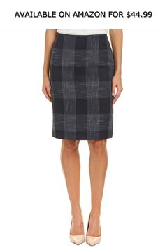 50adea3d9c Tahari by ASL Womens Plaid Pencil Skirt ◇ AVAILABLE ON AMAZON FOR: $44.99 ◇  Add