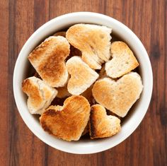 Inject a little heart into your toast for Valentine's Day - they're perfect for dipping! http://www.becel.ca/en/becel/HeartHealthyRecipes/Appetizers-and-Dips/default.aspx