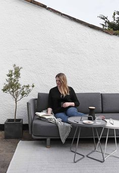I've teamed up with Danish outdoor furniture brand Cane-line to show how to turn your garden into a stylish and comfortable extension of your living space. Outdoor Rugs, Outdoor Living, Outdoor Decor, Chair Cushion Covers, Paving Stones, Scatter Cushions, Lounge Areas, Danish Design, Outdoor Furniture Sets