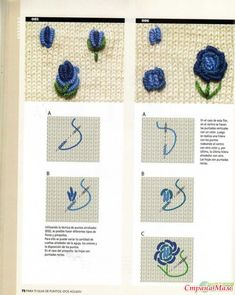 Awesome Most Popular Embroidery Patterns Ideas. Most Popular Embroidery Patterns Ideas. Bullion Embroidery, Embroidery Stitches Tutorial, Embroidery Flowers Pattern, Silk Ribbon Embroidery, Diy Embroidery, Embroidery Techniques, Flower Patterns, Cross Stitch Embroidery, Embroidery Designs