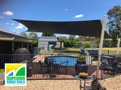 Pool Shade, Shade Sails, Pool Installation, Flagstone, Brisbane, Swimming Pools, Sailing, Charcoal, Shades