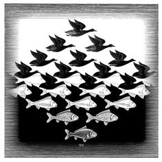 What is a tessellation? A: A tessellation is created when a shape is repeated over and over again covering a plane without any gaps or overlaps. M.C. Escher's work is reminiscent of patchwork. (creativechicksatplay, 2012)