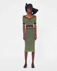 ZARA - STORIES - CROP TOP WITH SCALLOPED TRIMS