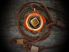 Ammolite suspension pendant/ wooden pendants/ by OKAVARKpendants