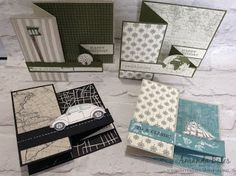 The Craft Spa - Stampin' Up! UK independent demonstrator : Square Pop Up Z Fold Card Tutorial and Going Place...