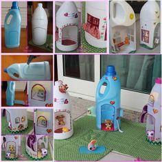 Wie Entzückende Puppenhäuser aus Kunststoff-Flaschen zu DIY