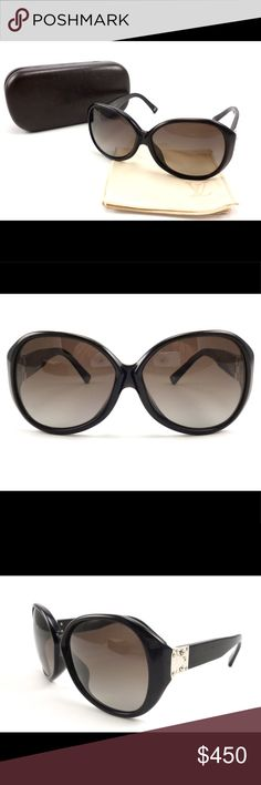 0dfcd94274 Louis Vuitton Auth Soupcon PM Sunglasses Black Authentic Louis Vuitton  Soupcon PM Women s Sunglasses. LV
